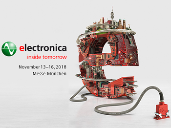 Meet us at electronica 2018
